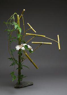 Bamboo, jasmine, hydrangea, stone by hoto2, via Flickr by Gordon