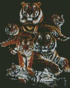 cross stitch kit dynasty tiger - Folksy