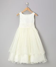 Look at this Kid's Dream Ivory Lace Tiered Dress - Girls on #zulily today! 38.99 versus 92.00
