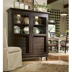 The Paula Deen Home The Bag Lady's China Cabinet is great accent piece that is designed to preserve your figurines, trophies, or souvenirs. This curio cab. Furniture Depot, Living Furniture, Kitchen Furniture, Rustic Furniture, Antique Furniture, Furniture Stores, Modern Furniture, Furniture Removal, Office Furniture