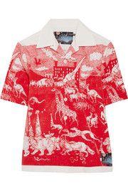 Prada Printed cotton-poplin shirt