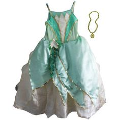 Disney Princess and the Frog Dress  Dressing up clothes for hours of fun! Dress up as Princess Tiana from the Princess and the Frog with this fantastic dress up costume! This gorgeous green dress includes beautiful detailing and a stylish necklace.Age 5-6 years.Walt Disney presents a m  http://www.comparestoreprices.co.uk/childs-toys/disney-princess-and-the-frog-dress.asp