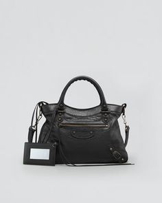 one of the best basic bags-Balenciaga-Classic Town Bag, Black - Neiman Marcus