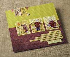 Days of Fall Seasons Scrapbook Layout Idea from Creative Memories