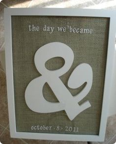@Stacey Shew - here's your & sign used cleverly...I would do it a little different - but cute....