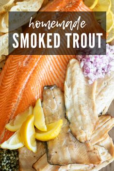 Smoked Trout is a delicious way to cook fresh trout. The trout takes on an amazing amount of smoke flavor, and you can enjoy the trout in a variety of ways. Smoked Salmon Dip, Smoked Fish, Bbq Recipes Sides, Grilling Recipes, Healthy Grilling, Fish Brine Recipe, Smoked Trout Brine Recipe, Seafood Dishes, Seafood Recipes