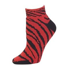 d02a66e7d8f5 Pizzazz Women Red Zebra Stripe Anklet Socks Cheer Dance 5-10