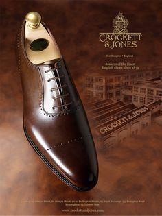 Crockett & Jones Courtenay oxford in dark brown antique calf
