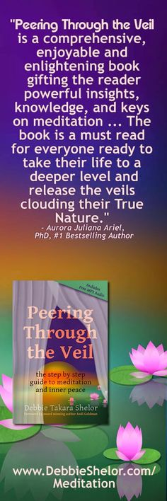"""""""Peering Through the Veil is a comprehensive, enjoyable and enlightening book gifting the reader powerful insights, knowledge, and keys on meditation ... The book is a must read for everyone ready to take their life to a deeper level and release the veils clouding their True Nature.""""  - Aurora Juliana Ariel, PhD, #1 Bestselling Author"""