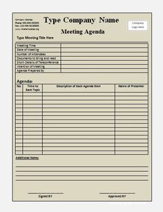 Attractive Meeting Agendas  Click On The Download Button To Get