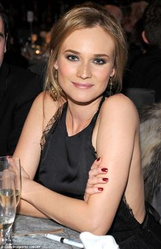 Love Diane Kruger's makeup in this photo...would be good for the wedding.