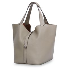 REAL LEATHER- Large Grain Leather Tote (Available in 3 Colours)