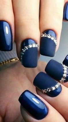 Blue with diamonds