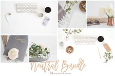 24 Neutral Stock Photos & Mockups by TwigyPosts on @creativemarket