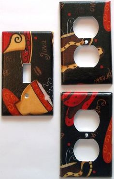 Coffee Java Espresso Cappuccino Kitchen Light Switch And Outlet Cafe Wall  Decor. Different Plate Styles