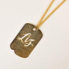 Fab.com | '50s Liz Dog Tag Necklace