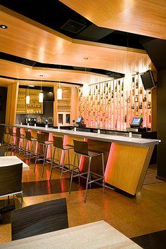 Voorbeeld van een lounge bar