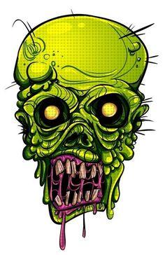 Zombie by Lady Macabre Zombie Drawings, Dark Art Drawings, Arte Horror, Horror Art, Zombie Tattoos, Arte Black, Zombie Art, Graffiti Characters, Macabre Art