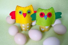 Rebecca DIY: DIY: Egg cozy covers in felt