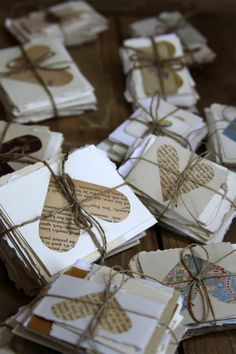 another fun idea instead of a traditional guest book--wish cards! :)