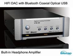 HIFI DAC Decoder with Fiber Coaxial Headphone Amplifier Bluetooth 4.0 U CSR Disk Digital Audio Support APT-X