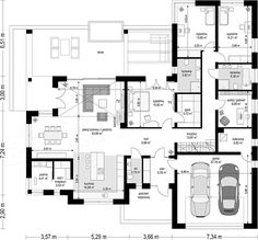 Printing Videos Architecture Home Printing Education Pictures Modern Bungalow House Design, Single Floor House Design, Bungalow House Plans, Dream House Plans, House Layout Plans, House Layouts, Four Bedroom House Plans, Architectural Floor Plans, House Design Pictures