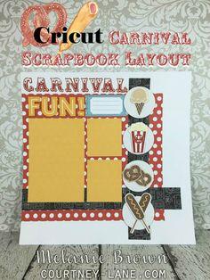 Cricut Carnival Scrapbook Layout