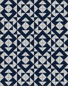 Aztec - Free Quilt Pattern - Charm Packs or Layer Cake - Easy - Fast - HST - Half Square Triangles - Silver - Nautical - Navy - Indigo - Kona Cotton