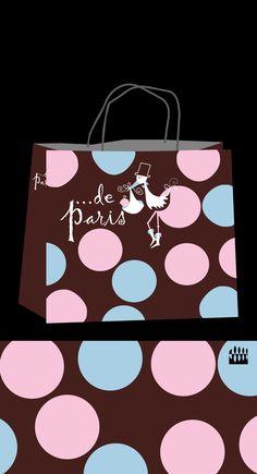 Logotipo Tienda infantil De Paris. Diseño Triloby estudio
