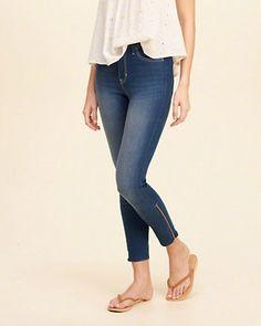 Jeans cortos de tiro alto Hollister