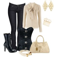 """Blouse and Boots"" by laaudra-rasco on Polyvore"
