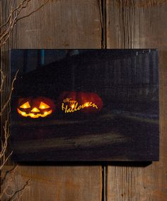 This Lighted 'Happy Halloween' Canvas Wall Art by Ohio Wholesale, Inc.   Lighted 'Happy Halloween' Canvas Wall Art Ohio Wholesale, Inc.  $13.99 $29.00