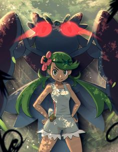 Anime Pokémon : Illustration Description Pokémon sun and moon Mallow Pokemon Girls, Sun Pokemon, Pokemon People, Pokemon Fan Art, Pokemon Stuff, Pokemon Mallow, Manga, Gym Leaders, Pokemon Pictures