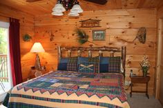 Branson Missouri vacation rental cabin - greenery added to wall grouping in Memory Maker Lodge