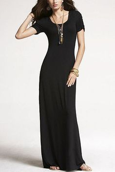 Express ruched sleeve maxi dress