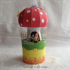 Geschenkbox  'Fliegenpilz' von gislis-design auf DaWanda.com