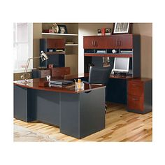 Via U-Desk Office Set - OFG-MS2600 Home Office Furniture - Classy - Professional