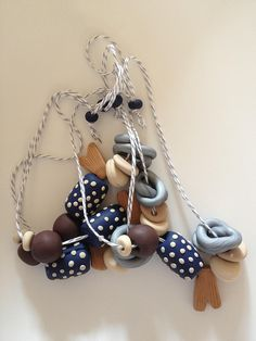 Malteser Clay Necklace by paper kites, via Flickr