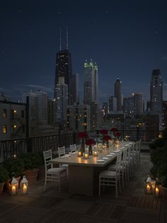 The Public Hotel in Chicago ~ rooftop terrace, 17th floor |  I'm gonna hold the party of my dreams there very soon