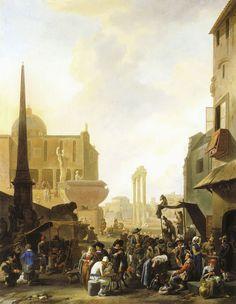 Johannes Lingelbach - Gezicht op het Forum Romanum