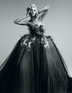 Couture To Adore   Anja Rubik   Patrick Demarchelier #photography   Vogue Japan May 2012