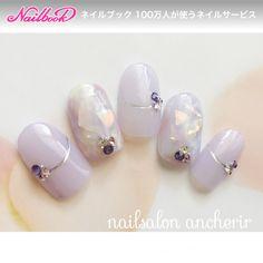 ネイル(No.2129810)|ミディアム |パープル |タイダイ |ホイル |ハンド |デート |春 |夏 |ジェルネイル |ネイルチップ | かわいいネイルのデザインを探すならネイルブック!流行のデザインが丸わかり! Asian Nail Art, Asian Nails, Diy Unicorn, Unicorn Nails, Gucci Nails, Soft Nails, Japanese Nail Art, Swarovski Nails, Luxury Nails