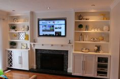Built-In Fireplace Surround