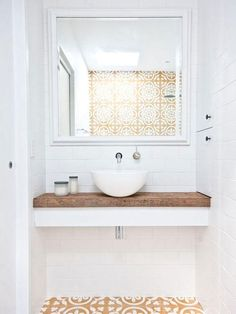 upstairs bathroom remodelisno question important for your home. Whether you pick the bathroom remodel shiplap or diy bathroom remodel ideas, you will make the best remodeling bathroom ideas diy for your own life. Corner Bathroom Mirror, Glass Bathroom Shelves, Bathroom Niche, Rustic Bathroom Decor, Bathroom Layout, Bathroom Ideas, Restroom Ideas, Kitchen Decor, Cement Tiles Bathroom