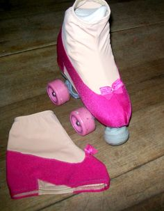 Fuchsia pink shoe skate boot covers for figure ice by Fadmes Roller Skating b3859f61685f1