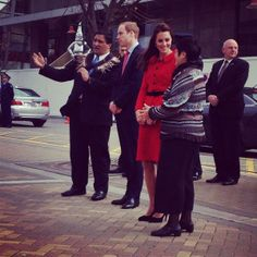 The Duke and Duchess are welcomed to Christchurch #RoyalVisitNZ