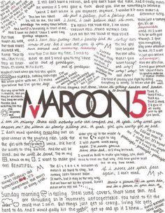 maroon 5's lyrics <3