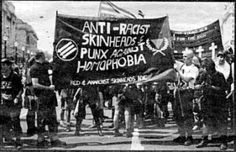 Anti-racist skinheads and punx against homophobia!