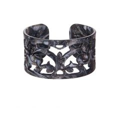 Medium Filigree Cuff Bracelet in Onyx by Bellissima at The Garden Gates