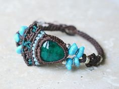 Dioptase bracelet